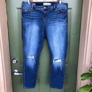 Torrid ripped Boyfriend Jeans